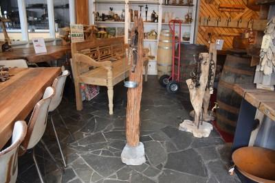 SW-151 houten hoge kaarshouder