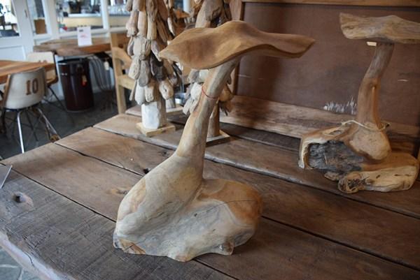 SW-153 houten decoratie paddestoelen
