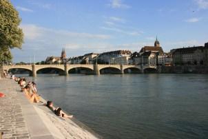 Rhine in Basel 2014, © Silvio Suter