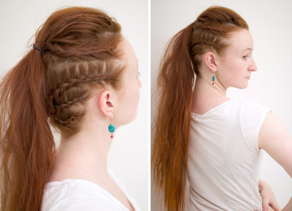 Vikings Lagertha ponytail tutorial