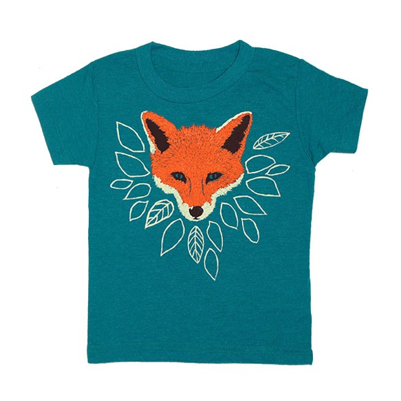 fox_kids_teal_green_tshirt gnome