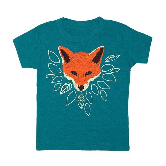 fox_kids_teal_green_tshirt gnome