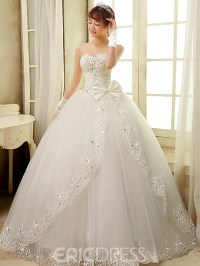 Ericdress Pretty Sweetheart Bowknots Ball Gown Wedding ...