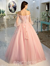 Ericdress Off-the-Shoulder Long Sleeves Ball Quinceanera ...