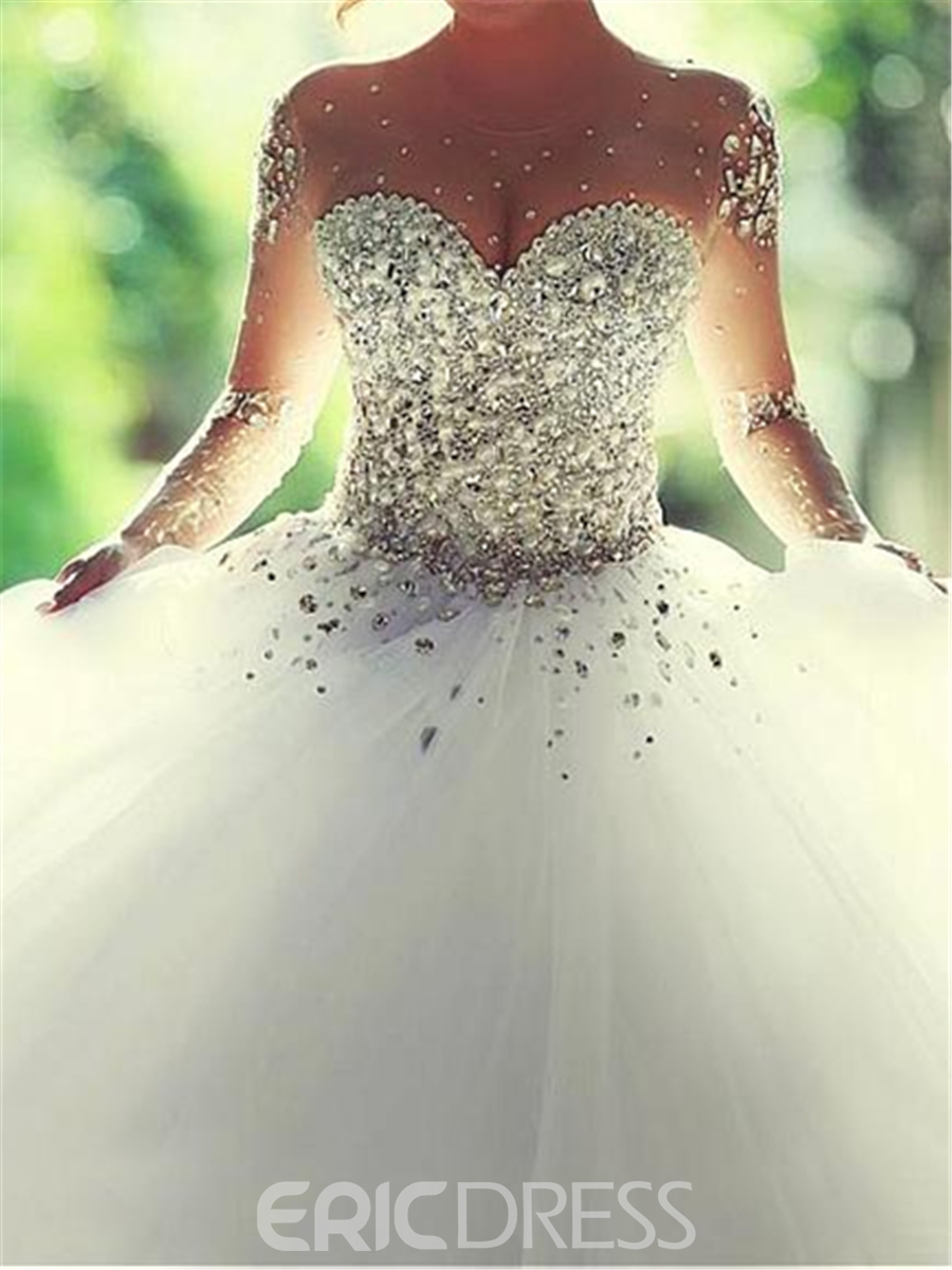 Ericdress Luxury Sweetheart Beading Ball Gown Wedding