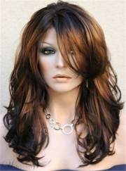 long layered wavy side swept fringes