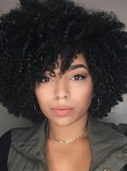 kinky curly natural black loose