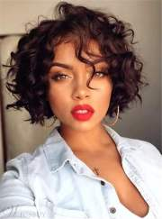 bob hairstyle short curly synthetic