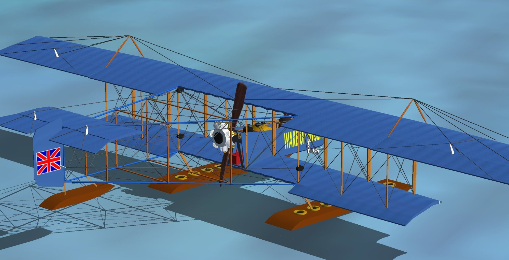 hight resolution of my 1912 wake up england farman model for microsoft flight simulator note the oddity of its prop and rotary engine placement