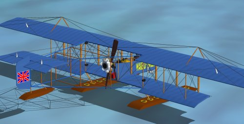 small resolution of my 1912 wake up england farman model for microsoft flight simulator note the oddity of its prop and rotary engine placement