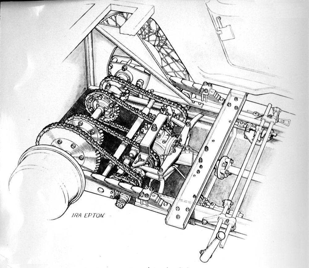 medium resolution of this particular frazer nash has four forward speeds the reverse chain not visible