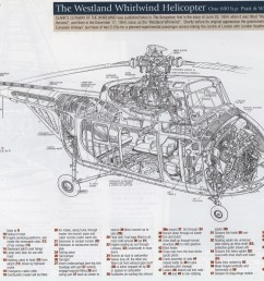 the westland whirlwind image from 1950s british classic cutaways  [ 2868 x 2212 Pixel ]