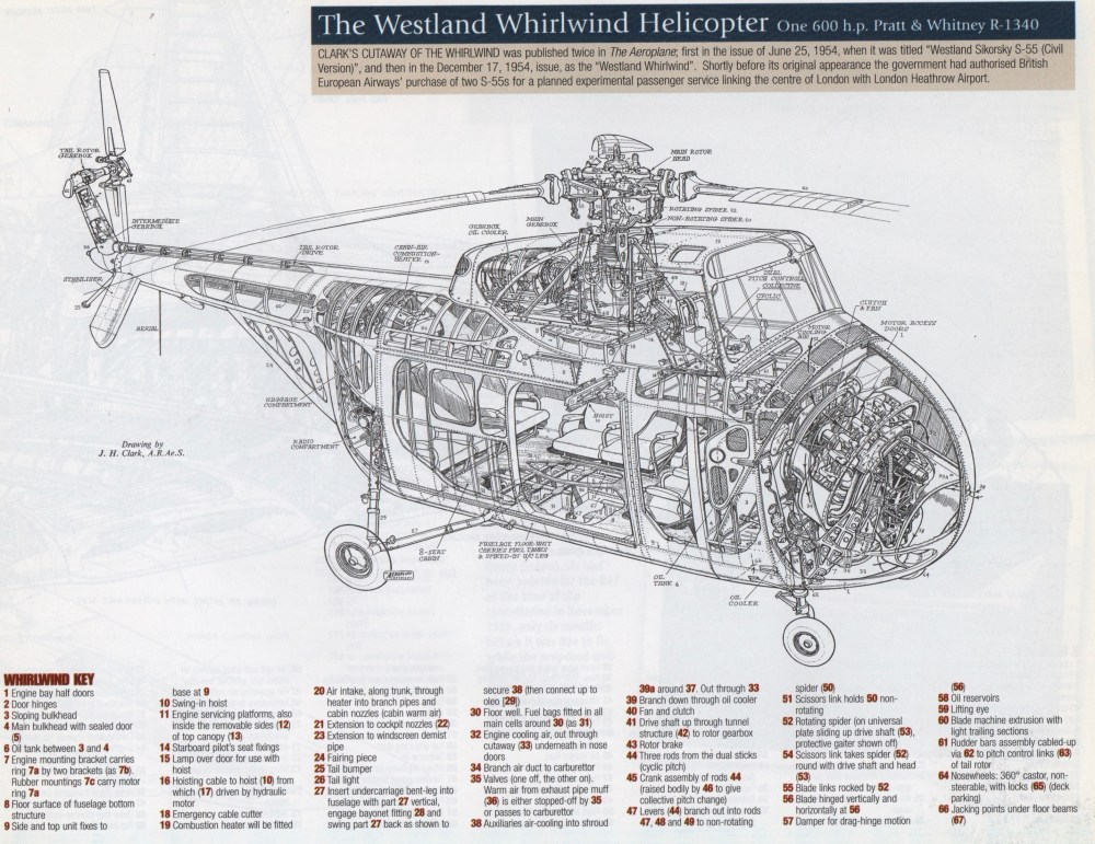 medium resolution of the westland whirlwind image from 1950s british classic cutaways