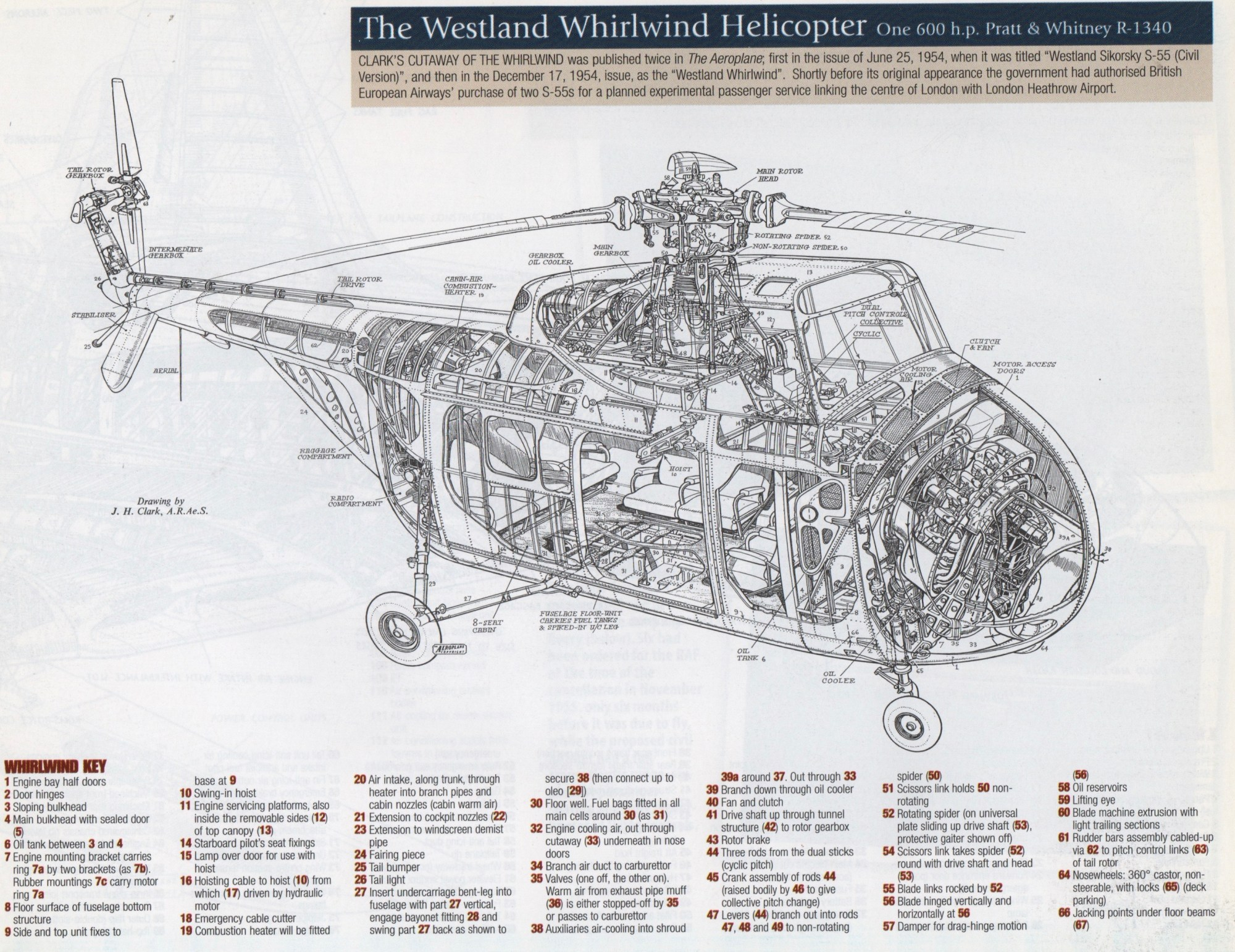 hight resolution of the westland whirlwind image from 1950s british classic cutaways