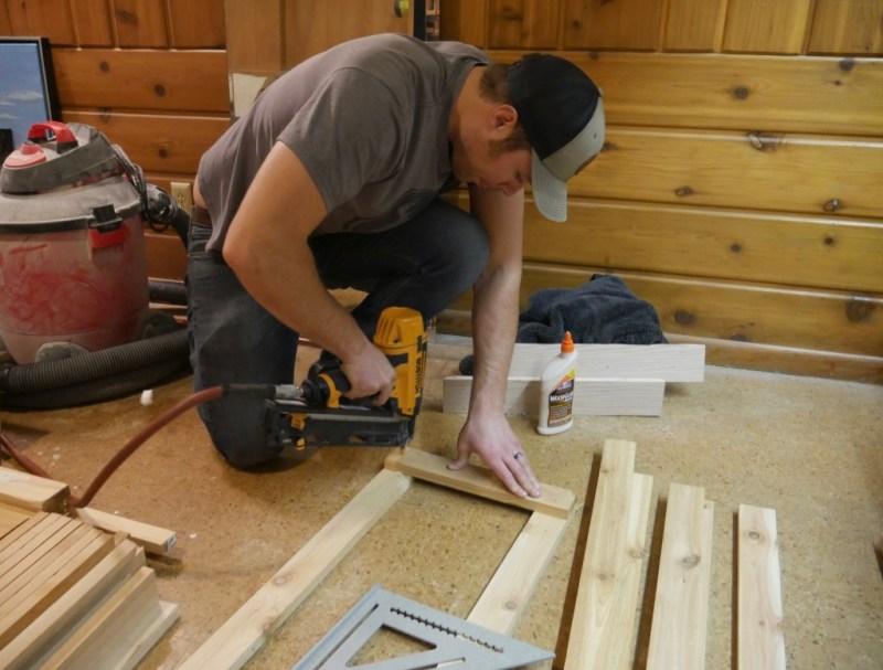 Nailing the shorter boards.