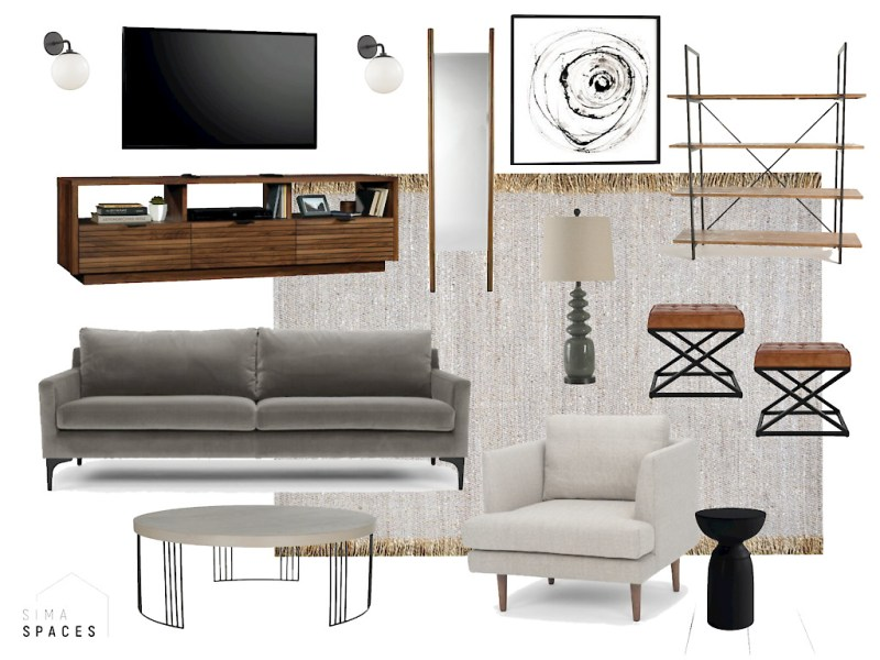 Modern Organic Living Room Refresh On A Budget - Sima Spaces