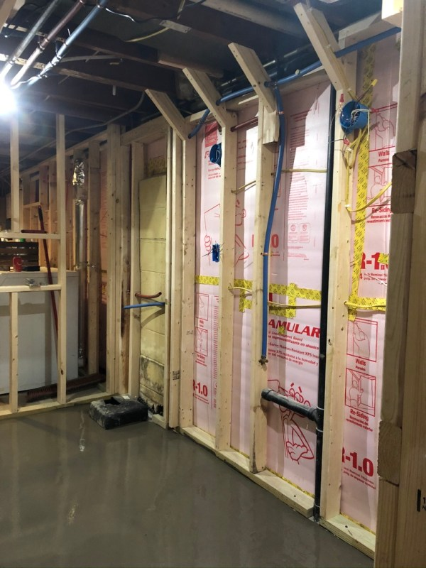 self-leveling concrete, plumbed/wired/framed basement bathroom, Sima Spaces Spring 2020 ORC