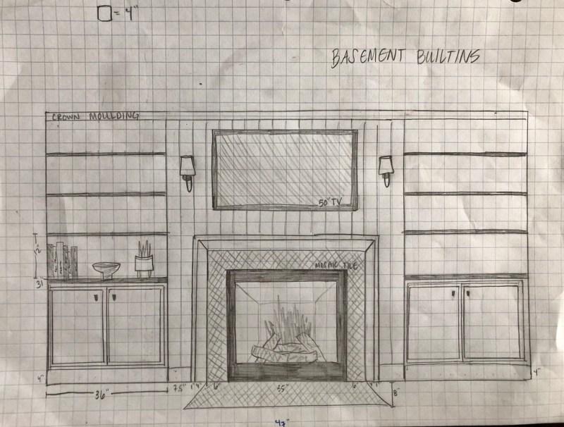 Fireplace Builtin Design Plan: Sima Spaces ORC week 2