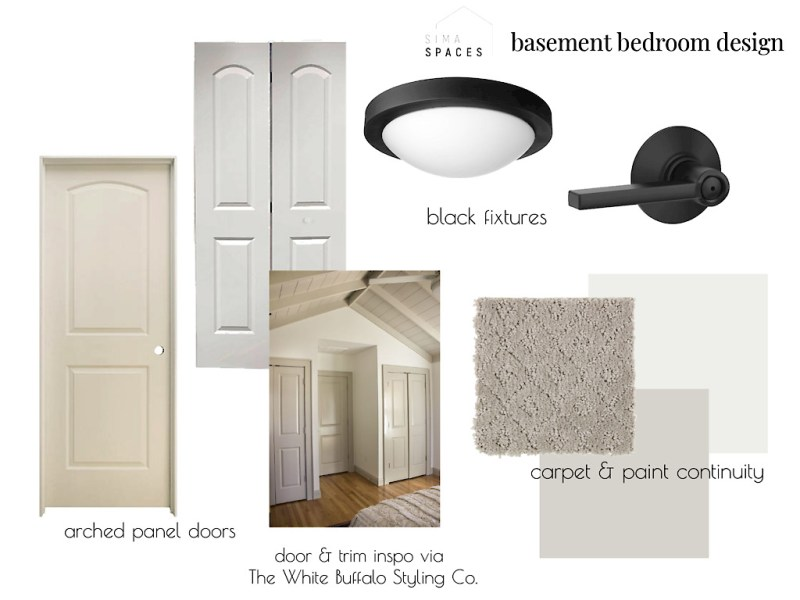 Basement bedroom design plan: Sima Spaces Spring 2020 ORC
