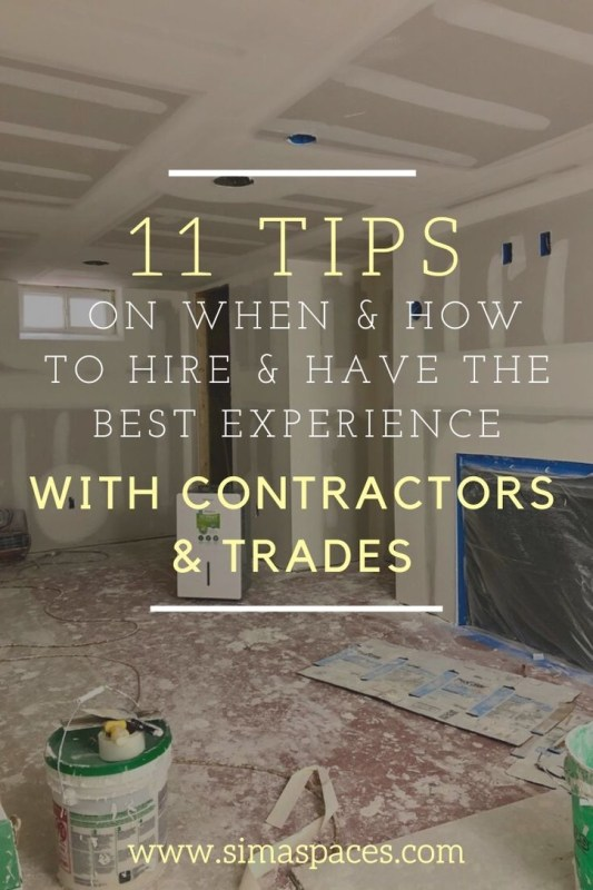 Tips for Hiring Contractors: Sima Spaces