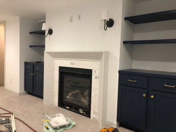 How To Install A Gas Fireplace With, Build Mantle Around Gas Fireplace