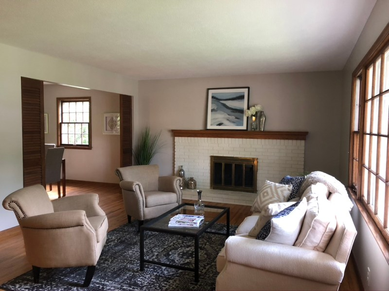 Before view of our living room// Sima Spaces