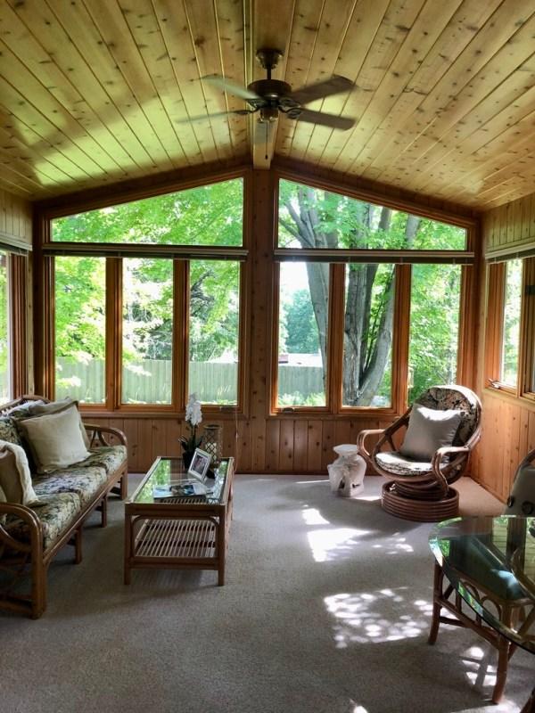 Three Season Knotty Pine Porch / BEFORE