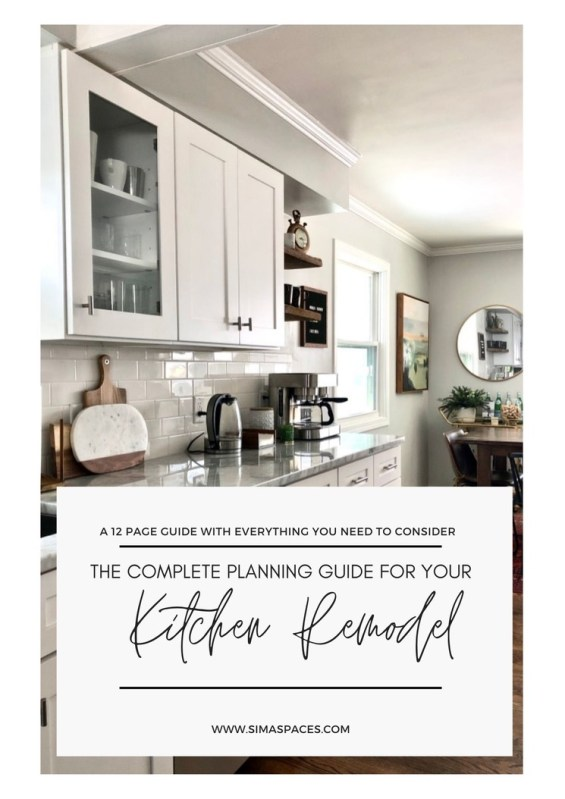 The COMPLETE PLANNING GUIDE for your kitchen remodel: 12 pages with every detail to consider for your project! // Sima Spaces
