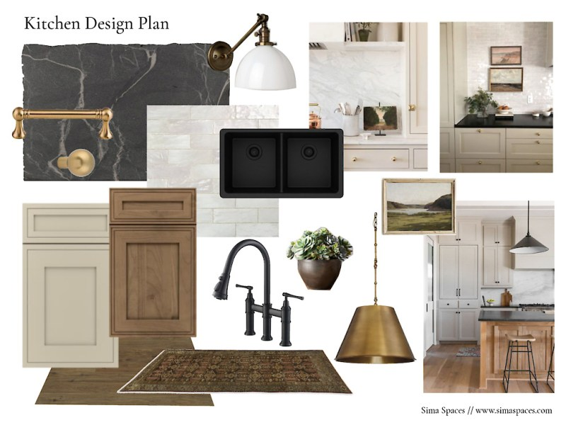 Kitchen remodel moodboard: details for our new kitchen! // Sima Spaces