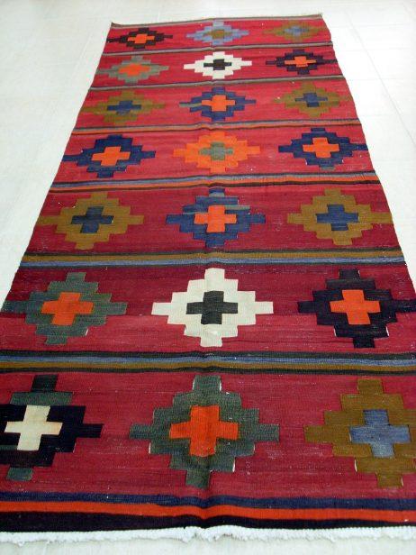 Oud Kaukasische Shahsevan Kelim 340 x 131