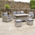 Stone Grey Barbados 6 Piece Relaxed Dining Set