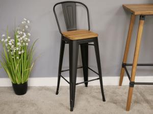 Steel bar stool