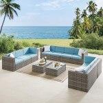 10 Seater Patio Sofa Set