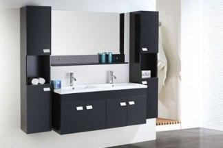 Mueble cuarto de baño 120 cm Unidades de columna y lavabos incluidos -  Elegance