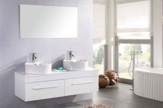 Mueble cuarto de baño 150 cm Lavabos incluidos - White Cardellino