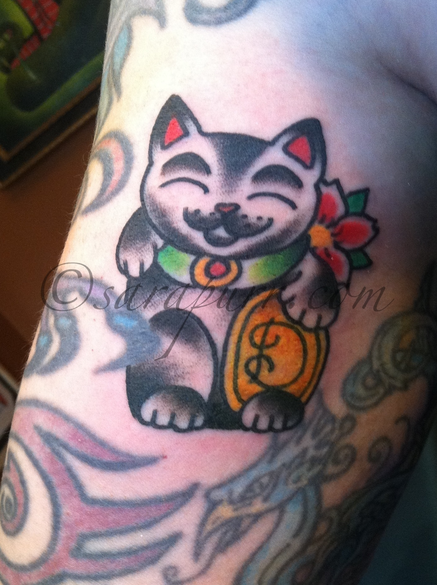 American Traditional Cat Tattoo : american, traditional, tattoo, American, Traditional, Tattoo, General