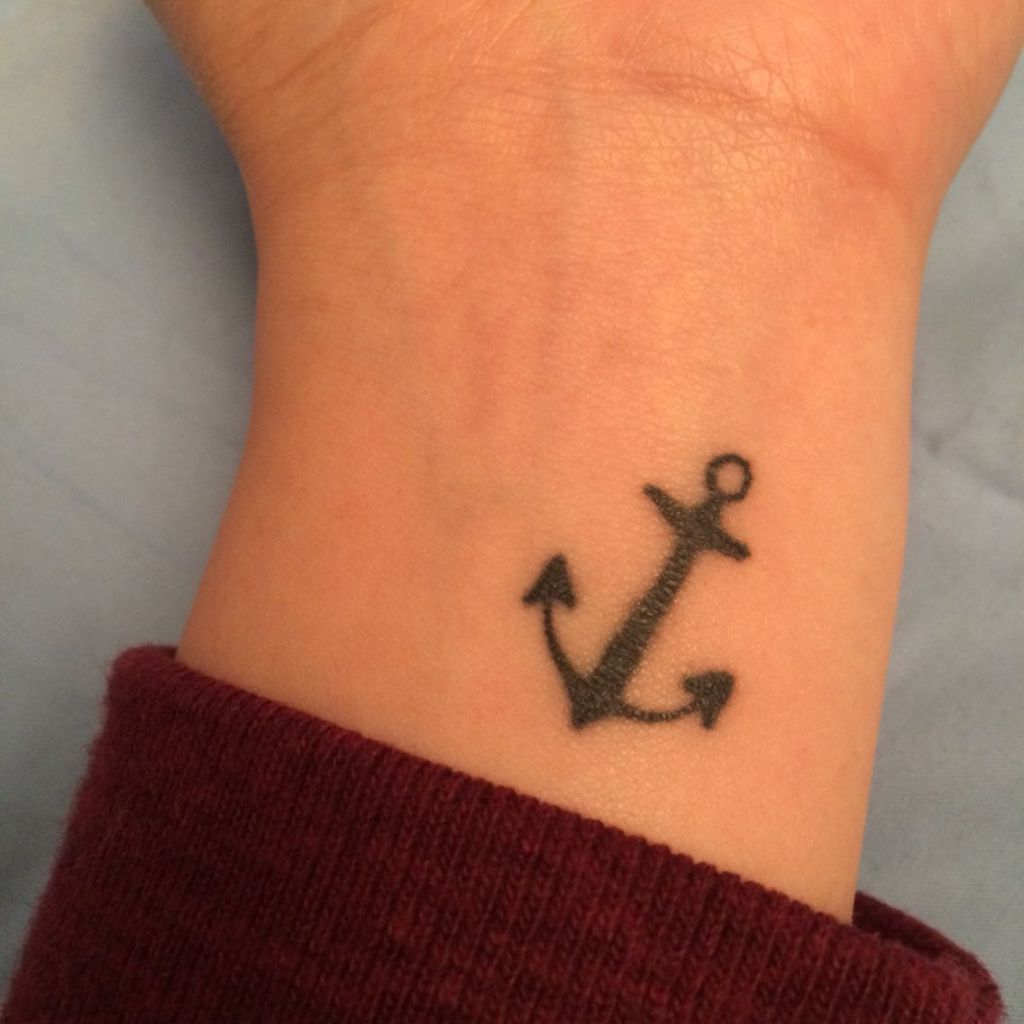 Simple Anchor Tattoo On Wrist Hebrews 6 19 We Have This Hope As