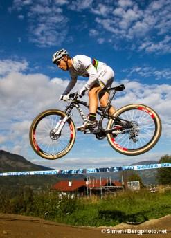 Nino Schurter, Hafjell Bike Park. Foto: Simen Berg