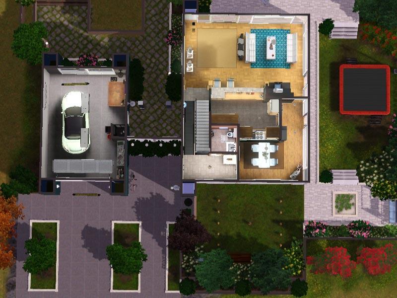 Sims 3  Download  Arjan  modern home  modernes Haus