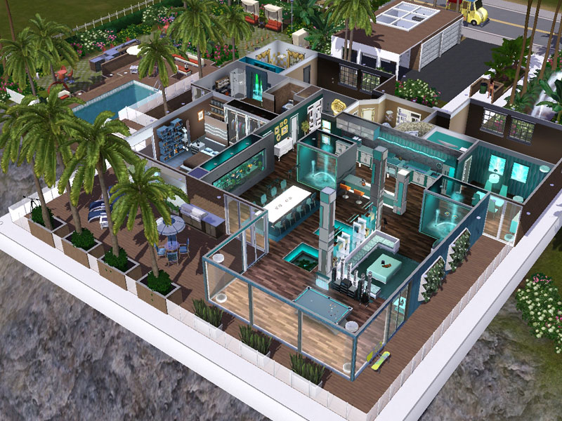 Maila Water Themed Cliff Hanging Mansion Simension