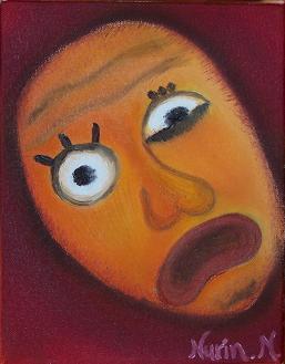 """Bewilderment"", Oil on Canvas (Original Size 9"" x 7""), Nurin Merchant, 2006"