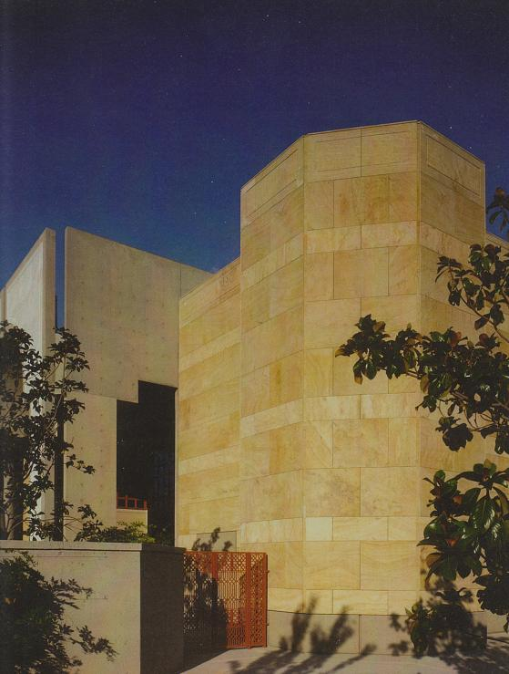 "Says Bruno Freschi: ""Materiality, the exposure of earth materials, concrete, sandstone, and marble gives a material presence and permancence, symbols of a 'timeless' foundation for the Ismaili community."""