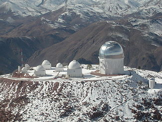 The Andes in Chile, South America, is home to some of the world's most powerful telescopes - Wikipedia Image