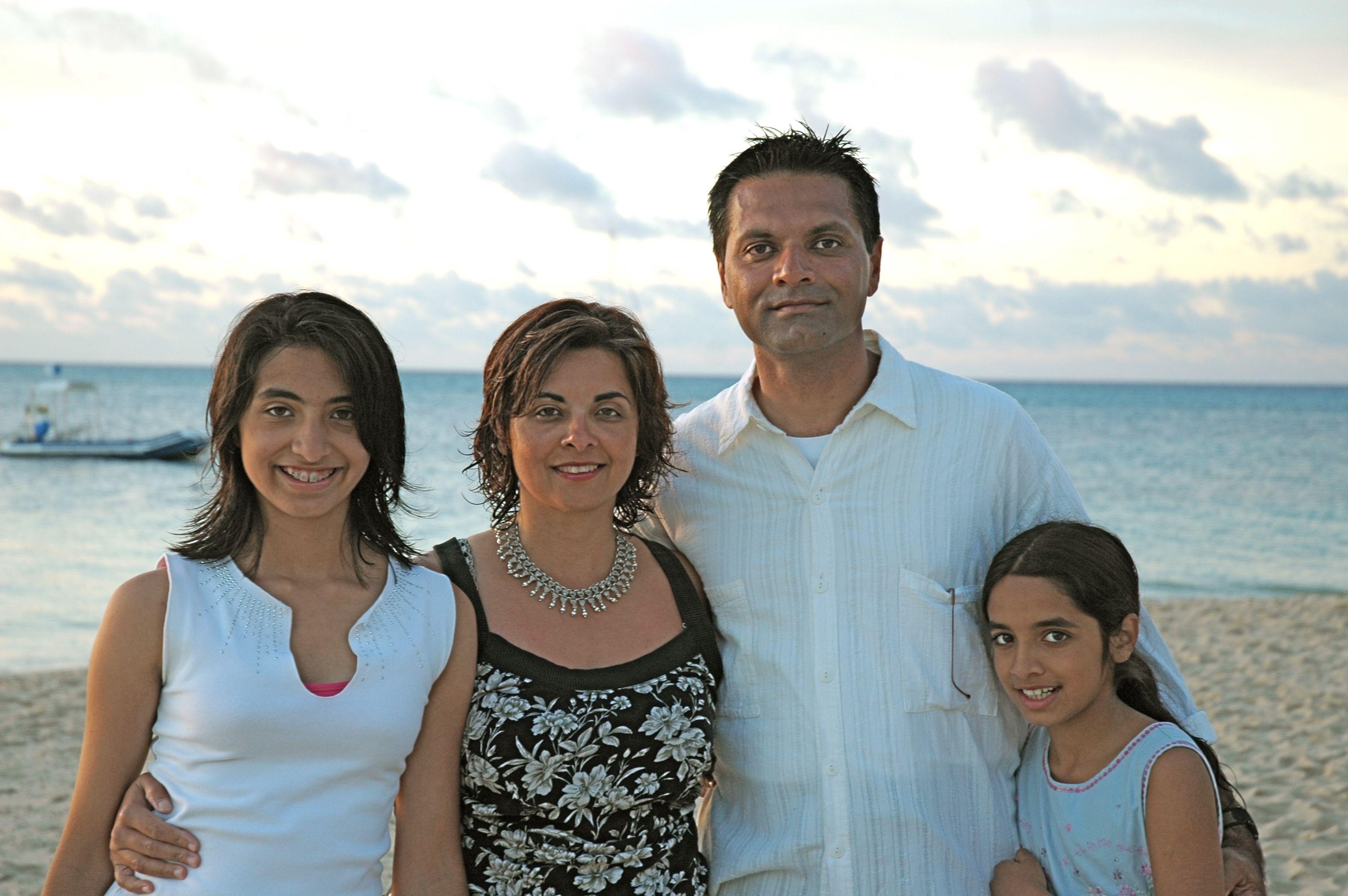 Arif Babul with wife Naznin and daughters Aliya-Nur (left) and Shazia 'Ayn