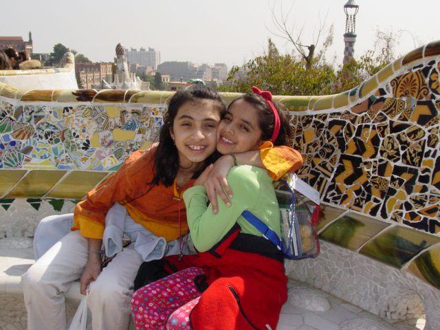 Aliya-Nur and Shazia'Ayn in Barcelona
