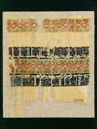 Fragment of a tiraz textile datable to the reign of Fatimid Imam/Caliph al-Mustansir (r. 427–86 / 1036–94).