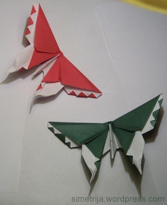origami drugelis