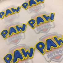 PAW patrol letters made of royal icing