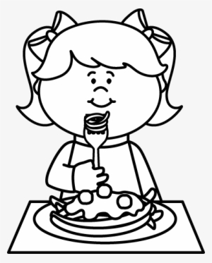 Eating Clipart Black And White : eating, clipart, black, white, Black, White, Eating, Spaghetti, Coloring, Transparent, 388x483, Download, NicePNG