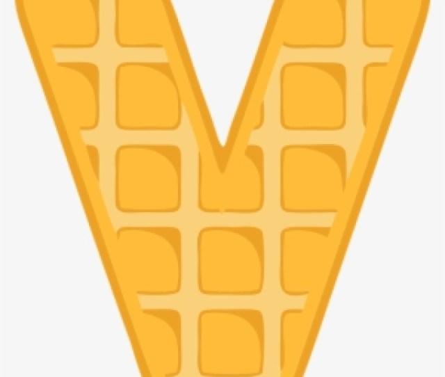 V Alphabet Waffle Letter Typography Text Font Waffle V